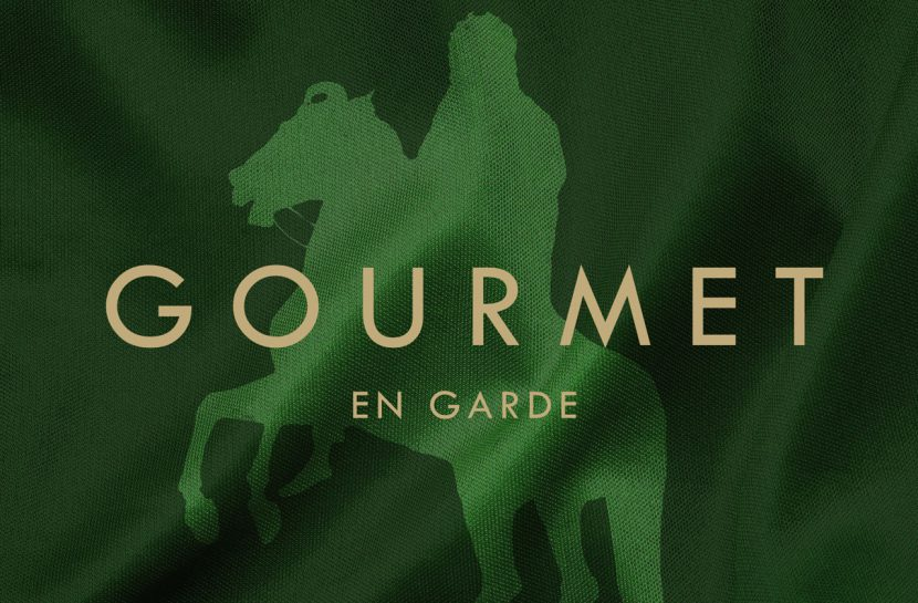 A detail from Gourmet's En garde album cover.