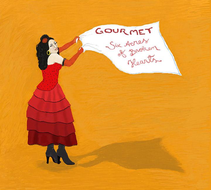 The cover of Gourmet's Six Acres of Broken Hearts album.